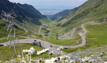 Transfagarasan seen in Romania Motorcycle Tours