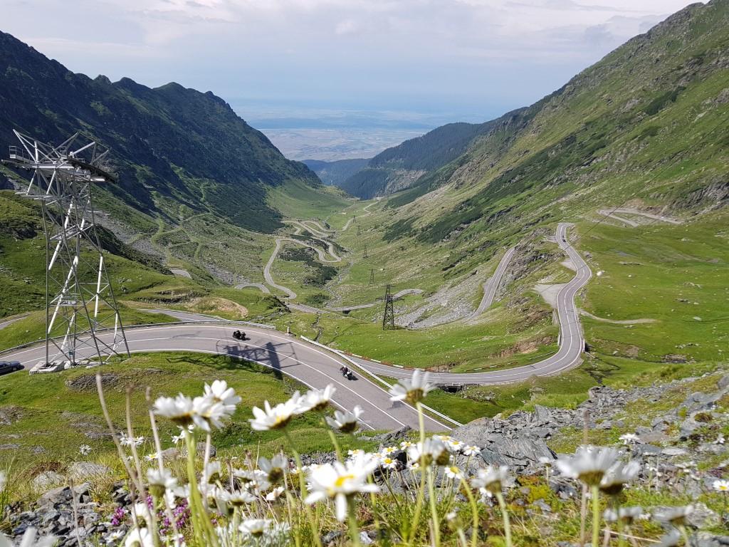 Transfagarasan seen in Romania Motorcycle Tours